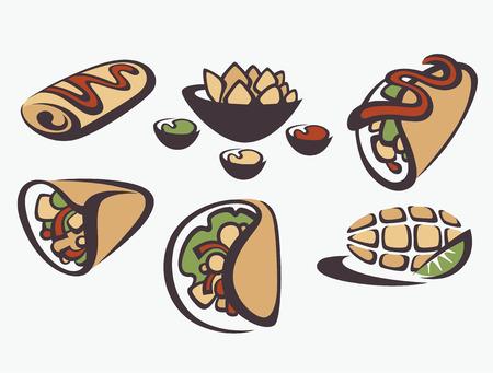 Illustration pour vecto food collection - image libre de droit