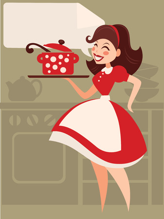 Illustration for Home made cooking in retro style - Royalty Free Image