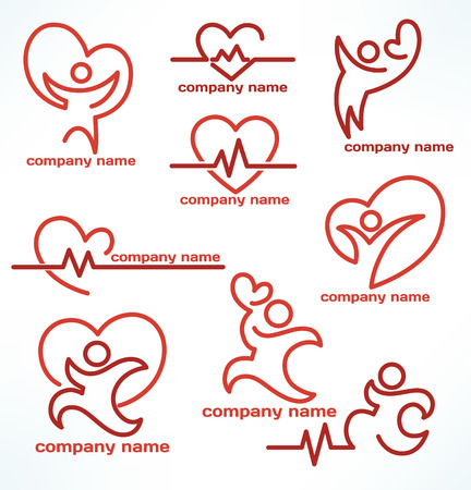 vector collection of health and medicine logo and emblems
