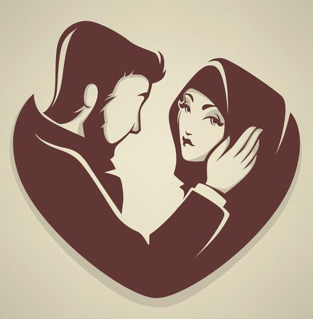 Foto de muslim love, couple, wedding, bride and groom - Imagen libre de derechos