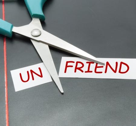 conceptual image on friend