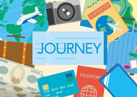 Illustration for Illustration of world travel - Royalty Free Image