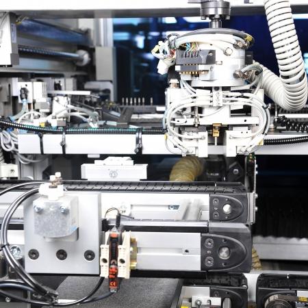 modern model of  industrial machine. inside view on details