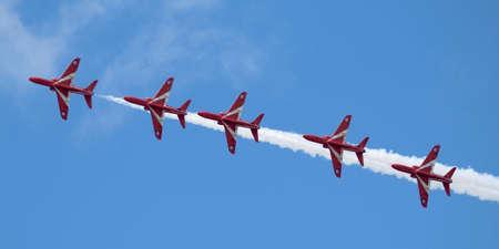 red arrows in flight
