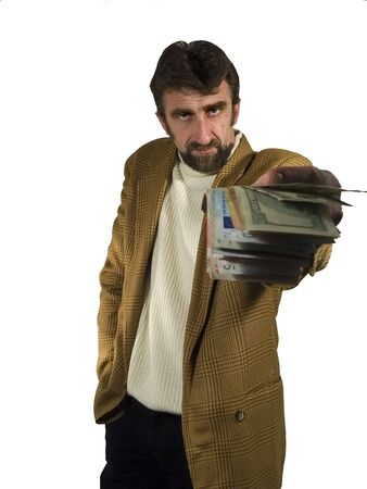 Business man with money -