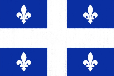 Quebec flag drawing by pastel on charcoal paper