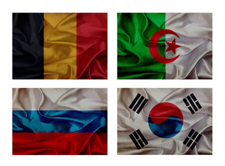 wave flags for soccer championship 2014. Groups H