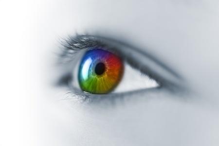 Multicolored Young Eye Macro