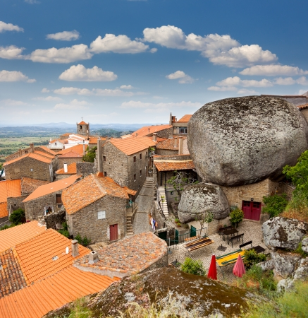 Monsanto village view  with the bell tower /  Portugal / Europe