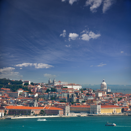 Panorama of Alfama and Graca, cityscape of Lisbon, Portugal, Europe