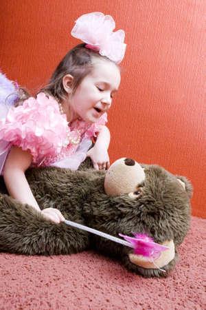 Girl And Her Teddy Bear