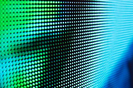 Foto de Bright colored LED video wall with high saturated pattern - close up background with shallow depth of field - Imagen libre de derechos
