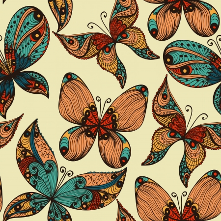 Paisley Butterfly Pattern