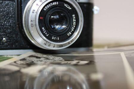 Photo pour old camera close-up - image libre de droit