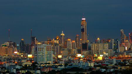 Photo for Bangkok city night time on summer season - Royalty Free Image