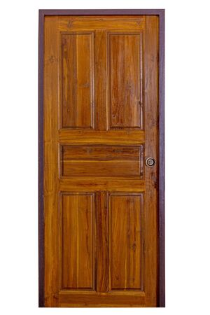 Photo pour Wooden door with boarder vintage style - image libre de droit