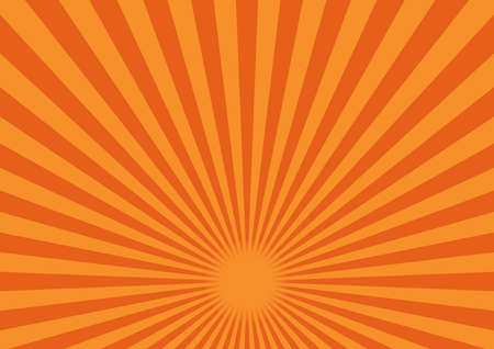 Illustration for Illustration of material for background of radiation (Orange). The fulcrum is in the lower center - Royalty Free Image
