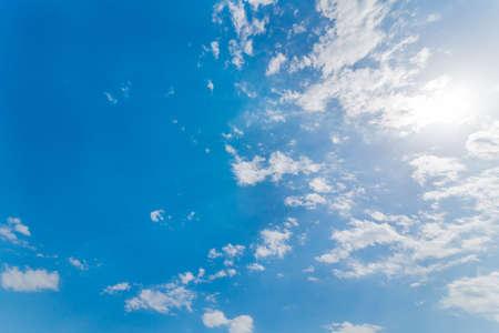 Foto de Blue sky, clouds and sun - Imagen libre de derechos