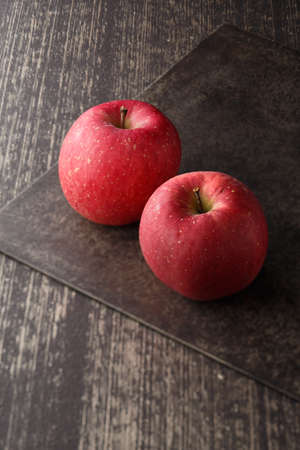 Photo for Apple on the table background. - Royalty Free Image