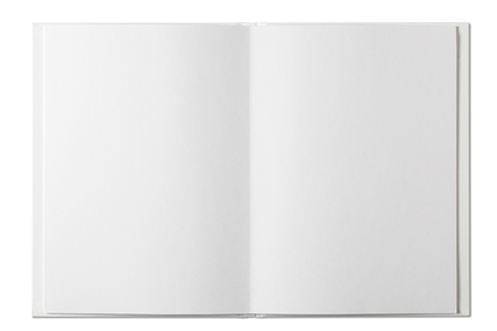 Blank open Book isolated on white