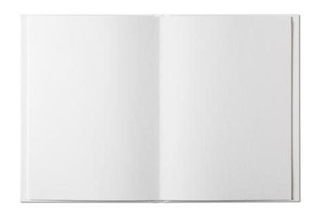 Photo pour Blank open Book isolated on white - image libre de droit