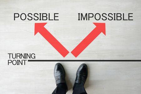 Photo pour Business Image - Possible or Impossible - image libre de droit