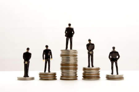 Foto für Image of income gap - Lizenzfreies Bild