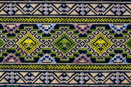 ancient thai woven cloth, pattern1, closeup