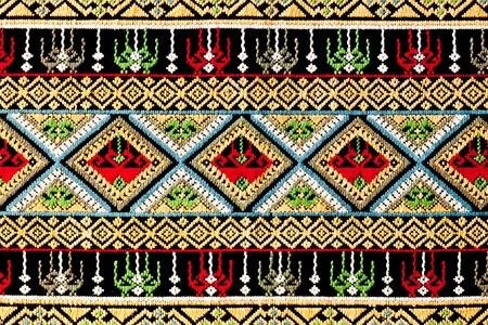 ancient thai woven cloth, pattern2, close
