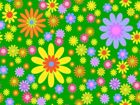 seamless bright floral background