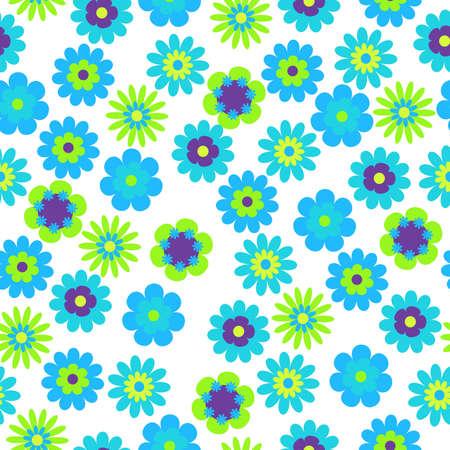 vector seamless bright floral background