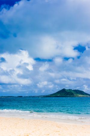 Photo pour Kailua bay in Oahu Island - image libre de droit