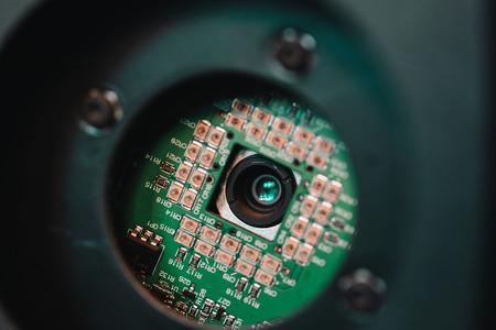 Photo pour Chip from the camera close up. - image libre de droit