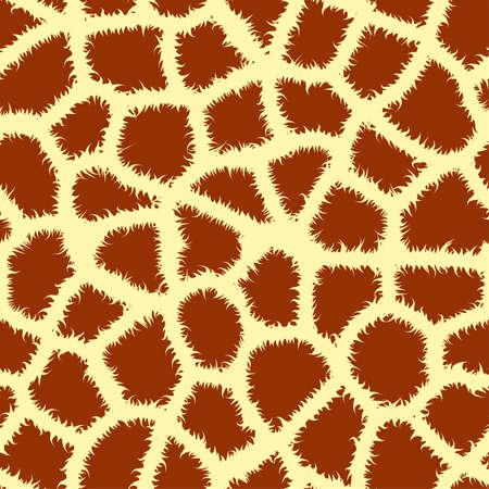 Seamless tiling animal print giraffe vector illustration