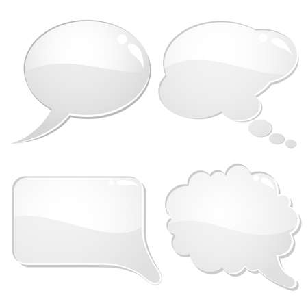 Set of speech and thought bubbles, element for design, vector illustration