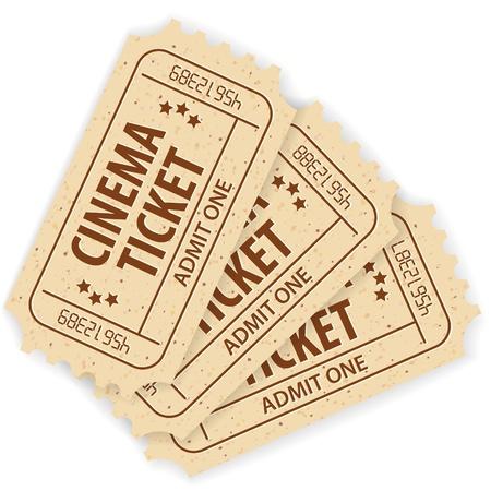 Set of Three Cinema Tickets, illustration