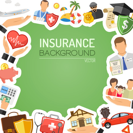Photo pour Insurance Services Concept for Poster, Web Site, Advertising like House, Car, Medical, Family and Business. - image libre de droit