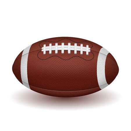 Illustration pour American football ball. realistic icon. vector illustration isolated on white background - image libre de droit