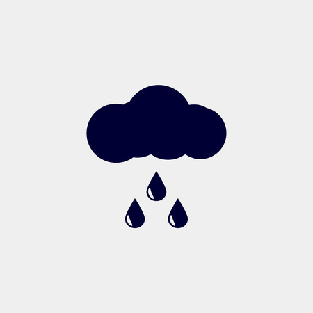 Rain icon, vector illustration. Forecast icon vector.のイラスト素材