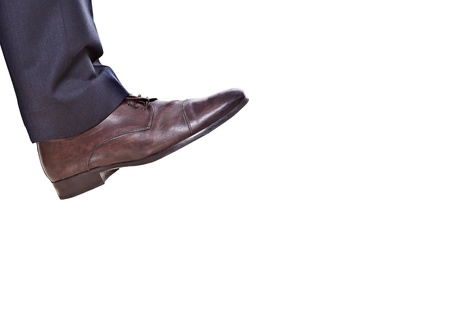 business feet isoleted on a white background