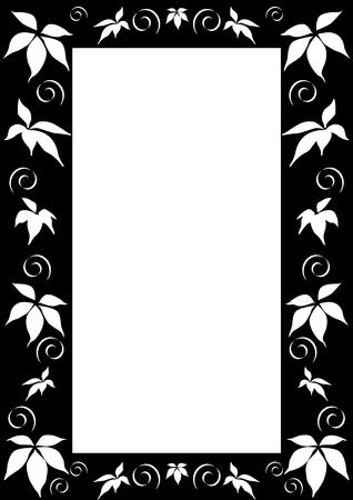 This is Black and white floral frame