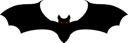 A black vampire bat flying