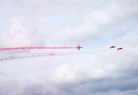 flight of the Royal Air Force Aerobatics team the Red Arrows