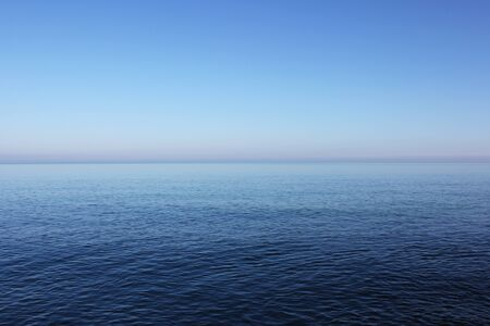 Photo for Blues sea and horizon background, water and sky texture,blue color map - Royalty Free Image