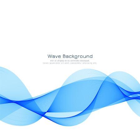 Illustration pour Elegant blue wave modern background - image libre de droit