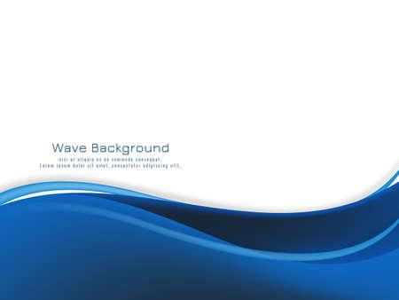 Illustration pour Modern blue wave design background vector - image libre de droit
