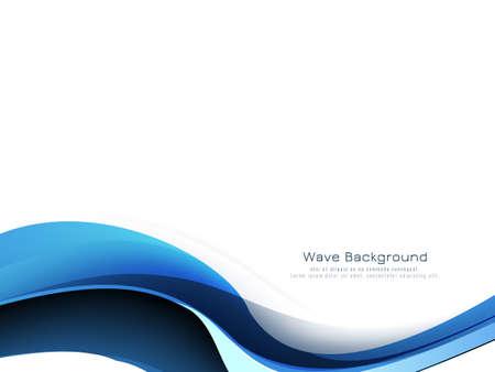 Illustration pour Beautiful blue wave modern decorative background vector - image libre de droit