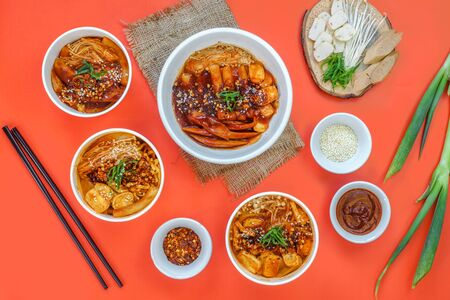 Photo for A set of Korean food is served warm. - Royalty Free Image
