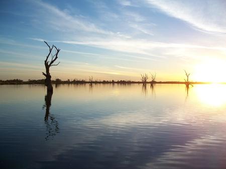 Photo pour Murray River Sunset - image libre de droit