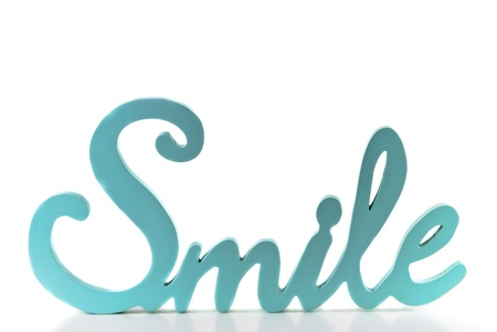 Baby Blue Smile word isolated on white background